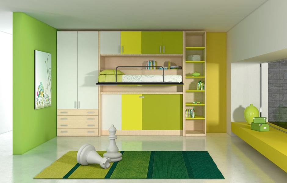 Letti a scomparsa e soluzioni per piccoli spazi mobili a scomparsa - Camerette piccoli spazi ...